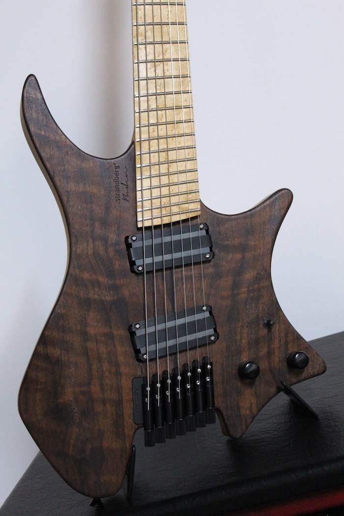Strandberg boden 7 figured claro walnut 7 string guitar for Strandberg boden 7