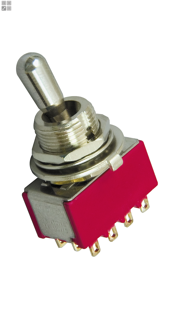 DiMarzio Three Position On/On/On 4PDT Pickup Selector Switch ...