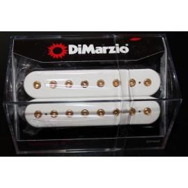 DiMarzio Ionizer 8-String Neck Pickup DP809 White w/ Gold Poles