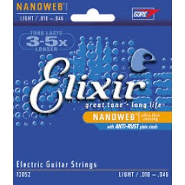 Elixir Nanoweb Coated Guitar Strings Light 10-46
