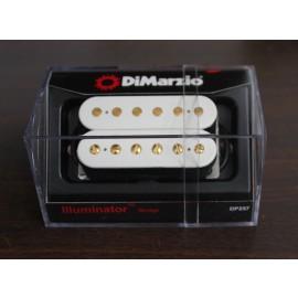 DiMarzio Illuminator 6 Bridge Model DP257 (White w/Gold Poles)