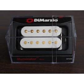 DiMarzio Illuminator 6 Neck Model DP256 Pickup (White w/ Gold Poles)