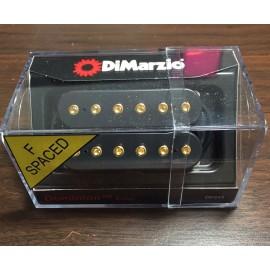 DiMarzio Dominion Bridge Pickup DP245 F-Spaced (Black, Gold Bolts)