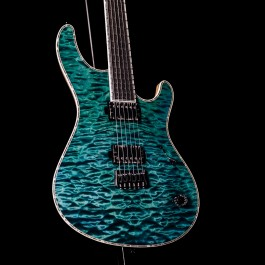 Mayones Regius 6 Turquoise AAAAA Quilt Top, BKP Nailbomb Pickups (NAMM 2020 Showcase Guitar)
