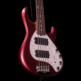 Music Man StingRay Special 5-String HH Bass (Maroon Mist, Rosewood Fingerboard, 2020 Model)