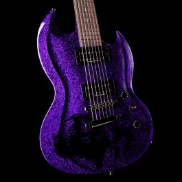 ESP Custom Shop Viper 7-String Baritone Purple Sparkle w/ Black Skull (Dir En Grey Kaoru Signature)