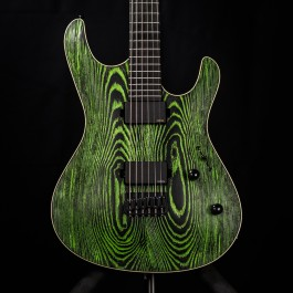 Mayones Setius Gothic Baritone 6-String (Black Ash / Green Pour Enhancement)