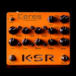 KSR Ceres 3-Channel Preamp Pedal - Orange