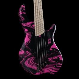 "Dingwall NG2 Combustion 5-String Adam ""Nolly"" Getgood Signature Bass w/ Soft Case (Matte Pink Swirl)"