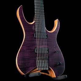 Mayones Hydra Elite 7-String AAAA Flame Maple Top (Trans Purple)