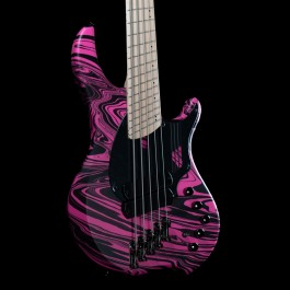 "Dingwall NG2 Combustion 5-String Adam ""Nolly"" Getgood Signature Bass w/ Soft Case (Matte Pink Swirl)"