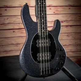 Music Man StingRay 4 Special HH Bass (Charcoal Sparkle, Ebony Fingerboard, Black Hardware)