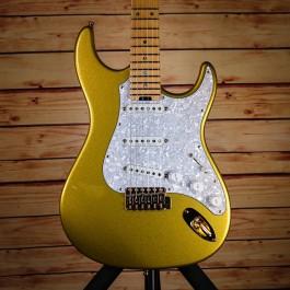 ESP Custom Shop Snapper Ohmura Custom (Eclipse Gold, Maple Fingerboard, Fully Scalloped)