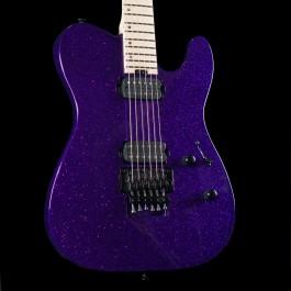 ESP USA TE-II FR Purple Sparkle with Maple Fingerboard, Stainless Steel Frets, Seymour Duncan Pegasus/Sentient Pickups