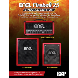 ENGL Fireball 25 Special Limited Edition Red Bronco 25W Tube Amplifier Head - E633SR [PRE-ORDER]