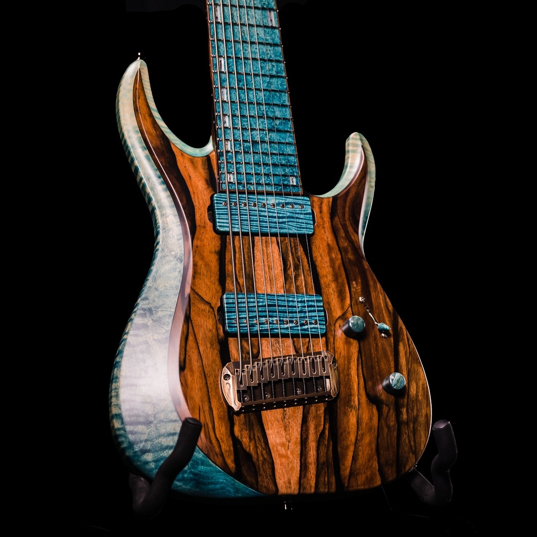Esp Custom Shop Horizon 9 String Exhibition Limited Namm 2020 Guitar Turquoise Green Gradation The Axe Palace