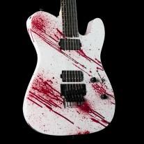 ESP USA TE-II FR Blood Splatter with Ebony Fingerboard, Stainless Steel Frets, Seymour Duncan Pegasus/Sentient Pickups