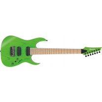 "Ibanez RGR5227MFX Prestige 7-String Transparent Fluorescent Green (2019 Model with Bare Knuckle ""Brute Force"" Pickups) [PRE-ORDER]"