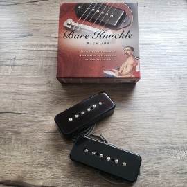 Bare Knuckle Pig '90 6-String Calibrated P90 Pickup Set (Black, Soapbar)