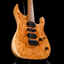 LSL Custom Shop XT4 Deluxe Burl Top with Roasted Birdseye Maple Neck & Stainless Steel Frets