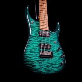 Music Man JP15 7-String John Petrucci Signature (Teal Quilt, 2019 Model)