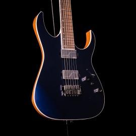 Ibanez RG5121 Prestige 6-String Dark Tide Blue Flat (2020 Model with Fishman Fluence Modern Pickups)