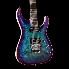 ESP Custom Shop Horizon FR Blue Purple Burst Poplar Burl Top (2019 NAMM Exhibition Guitar)