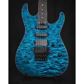 ESP USA M-III See-Thru Blue AAAA Quilt Maple Top & EMG Pickups