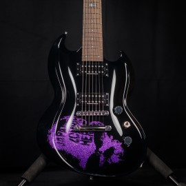 ESP Custom Shop Viper 7-String Baritone Purple Skull (Dir En Grey Kaoru Signature)