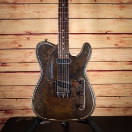 James Trussart Rust-O-Matic Baritone Steelcaster Perforated Metal with Pao Ferro Fingerboard