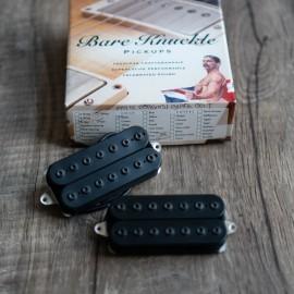 Bare Knuckle Silo 7-String Pickup Set (Black Matte w/ Black Bolts) Reverse Neck Magnet