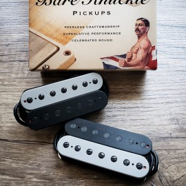 Bare Knuckle Black Dog 7-String Calibrated Pickup Set (Gray/Black, Black Screws, Matte Bobbins)