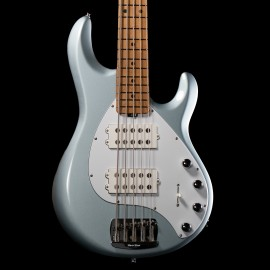 Music Man StingRay Special 5-String HH Bass (Firemist Silver, Roasted Maple Fingerboard, 2020 Model)