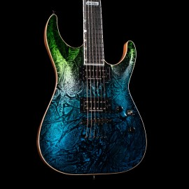 ESP USA Horizon-II Blue Green Marble Fade w/ Stainless Steel Frets & Natural Back
