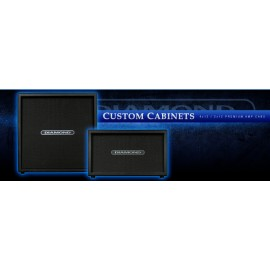 Diamond Custom 2x12 Cabinet with Celestion V30 Speakers (Black)