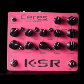 KSR Ceres 3-Channel Preamp Pedal - Pink