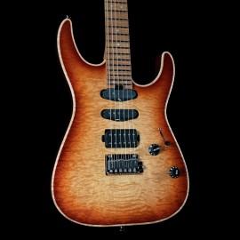 Charvel USA Select DK24 HSS 2PT CM QM Autumn Glow w/ Carmelized Maple Fingerboard