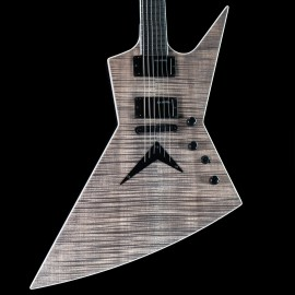 Dean USA Custom Shop Dave Mustaine Zero (Trans Black, AAAAA Flame, Satin Neck)