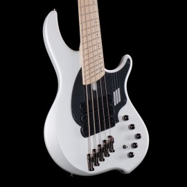 """Dingwall NG3 Combustion 5-String Adam """"Nolly"""" Getgood Signature Bass w/ Soft Case (Ducati White)"""
