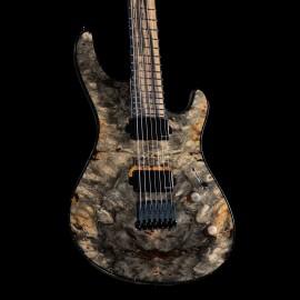 Mayones Custom Regius 7-String Baritone Buckeye Burl w/ Pale Moon Ebony Fingerboard & Fishman Fluence Moderns
