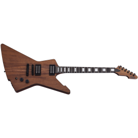 Schecter E-1 Koa Explorer with USA San Andreas Pickups (Natural Satin)
