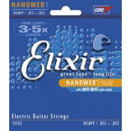 Elixir Nanoweb Coated Guitar Strings Heavy 12-52