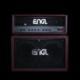 ENGL Custom Shop Fireball 100 W Tube Amplifier Head + Matching 2x12 Cabinet (Red Snakeskin)