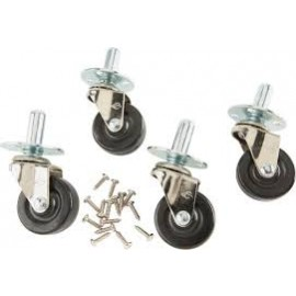Ernie Ball Deluxe Amp Caster Set Pop-in Socket