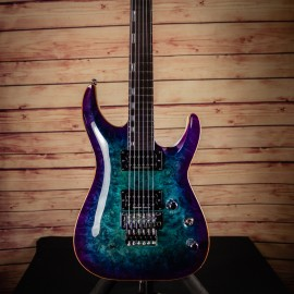 ESP Custom Shop Horizon FR Blue Purple Burst Poplar Burl Top (2019 NAMM Exhibition Guitar)