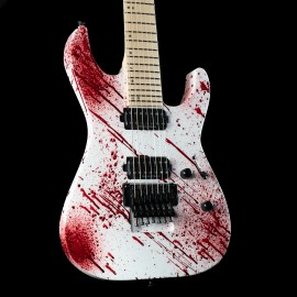 ESP USA M-7 FR - Blood Splatter, Maple Fingerboard, Stainless Steel Frets, Seymour Duncan Pickups