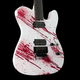 ESP USA TE-II FR Blood Splatter with Ebony Fingerboard, Stainless Steel Frets, Seymour Duncan Pegasus/Sentient Pickups