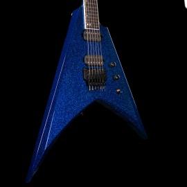 ESP USA V-II FR - Blue Sparkle, Ebony Fingerboard, Seymour Duncan Pegasus/Sentient Pickups, Stainless Steel Frets