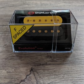 DiMarzio Evolution Bridge DP159 Black & Yellow w/ Gold Bolts
