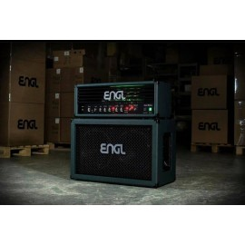 ENGL Custom Shop Artist 100 W Tube Amplifier Head + Matching 2x12 Cabinet (Emerald Bronco w/ Green LED)